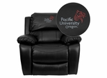 Pacific University Oregon Boxers Rocker Recliner  - MEN-DA3439-91-BK-41059-EMB-GG
