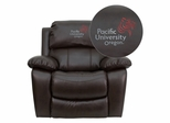 Pacific University Oregon Boxers Rocker Recliner - MEN-DA3439-91-BRN-41059-EMB-GG