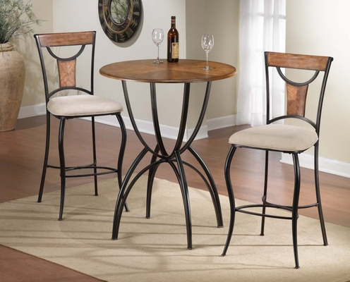 Pacifico 3-Piece Bistro Set - Hillsdale Furniture - 4137PTBS