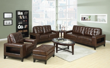 Paige 4PC Sofa, Loveseat, Chair and Ottoman Set - 504431