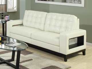 Paige Contemporary Sofa with Cutout Arms - 504421