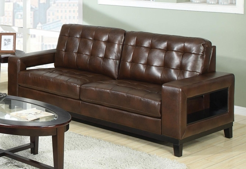 Paige Contemporary Sofa with Cutout Arms - 504431