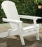 Painted Simple Adirondack Chair in White - Merry Products - MPG-AC01WP