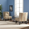 Pair of Celia Chairs/Pillow - Clover Aegean - Holly and Martin
