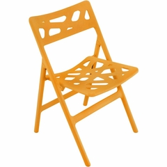 Pair of Cyclone Folding Chairs Orange - Lumisource