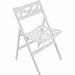 Pair of Cyclone Folding Chairs White - Lumisource