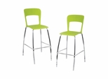 Pair of Tone Bar Stools Green - Lumisource