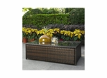 Palm Harbor Outdoor Wicker Glass Top Table - CROSLEY-CO7201-BR