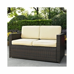 Palm Harbor Outdoor Wicker Loveseat - CO7106-BR