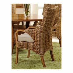 Palm Isle Arm Chair - Set of 2 Antique Honey and Abaca Weave - Largo - LARGO-ST-D1650-242