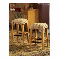 Palm Isle Backless Stool Antique Honey and Abaca Weave - Largo - LARGO-ST-D1650-BACKLESS