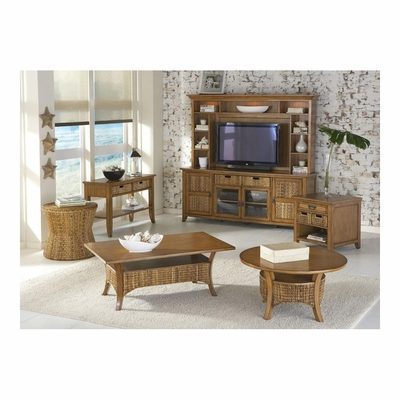 Palm Isle HDTV Entertainment Center with Accent Tables - Largo - LARGO-WG-PALM-ISLE-SET