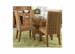 Palm Isle Parsons Chair - Set of 2 Antique Honey and Abaca Weave - Largo - LARGO-ST-D1650-243