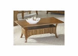 Palm Isle Rectangular Cocktail Table Antique Honey and Abaca Weave - Largo - LARGO-ST-T1650-100B-100T
