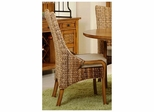 Palm Isle Side Chair - Set of 2 Antique Honey and Abaca Weave - Largo - LARGO-ST-D1650-241
