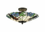Pansy Semi Flush Mount - Dale Tiffany