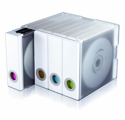 Parade Disc Holder Categorize 96 CDs or DVDs in Color Coded White Binder - Atlantic - 96635495