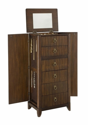 Paris Jewelry Armoire in Mahogany - Home Styles - 5540-47