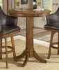 Park View Bar Height Table in Medium Brown Oak - Hillsdale Furniture - 4186PTB