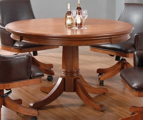 Park View Game Table in Medium Brown Oak - Hillsdale Furniture - 4186GTB