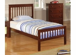 Parker Brown Cherry Twin Slat Headboard & Footboard Bed - 400290T