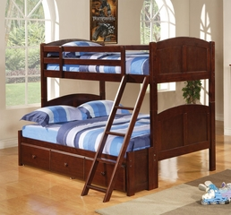 Parker Twin Over Full Panel Bunk Bed with Under Bed Storage Unit - 460212