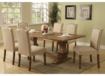 Parkins 7PC Dining Table and Parson Chair Set in Coffee - 103711