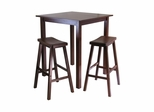 Parkland 3Pc Square Pub Table Set - Winsome Trading - 94349