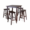 Parkland 5Pc Square Pub Table Set - Winsome Trading - 94549