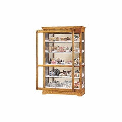 Parkview Curio Cabinet in Golden Oak - Howard Miller
