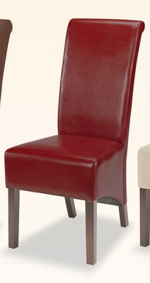 Parson Chair (Set of 2) in Burgundy Bycast Vinyl - Coaster