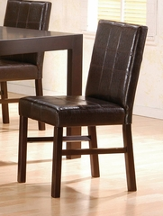 Parson Chair (Set of 2) in Cappuccino - Coaster