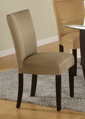 Parson Chair (Set of 2) in Taupe Microfiber - Coaster