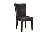 Parsons Chair - Brown Bonded Leather - Powell Furniture - 749-833