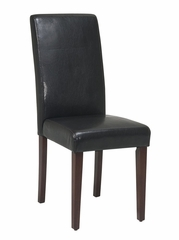 Parsons Chair in Dark Brown - Office Star - MET806