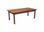 Patio Furniture / Outdoor Furniture - Milano Coffee Table - Eucalyptus Wood - Wood Finish - INT-BT-367