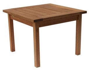 Patio Furniture / Outdoor Furniture - Milano Side Table - Eucalyptus Wood - Wood Finish - INT-BT-368