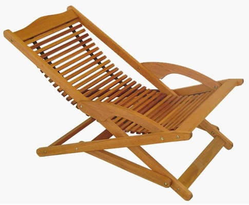 Patio Outdoor Chair - Copacabana Folding Chair - Eucalyptus Wood - Wood Finish - INT-BT-213