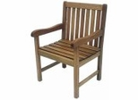 Patio Outdoor Chair - Milano Chair - Eucalyptus Wood - Wood Finish - INT-BT-364