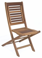Patio Outdoor Chair - Parati Folding Chair Without Arms (Set of 2) - Eucalyptus Wood - Wood Finish - INT-BT-225