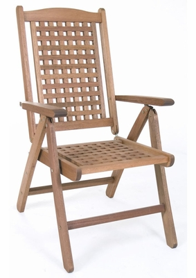 Patio Outdoor Chair - Porto Real Position Chair - Eucalyptus Wood - Wood Finish - INT-BT-234