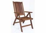 Patio Outdoor Chair - Portobello Position Chair - Eucalyptus Wood - Wood Finish - INT-BT-391