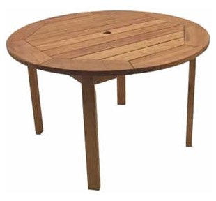 Patio Outdoor Table - Milano Round Table - Eucalyptus Wood - Wood Finish - INT-BT-365