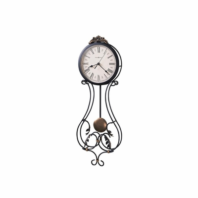 Paulina Wrought Iron Quartz Wall Clock - Howard Miller
