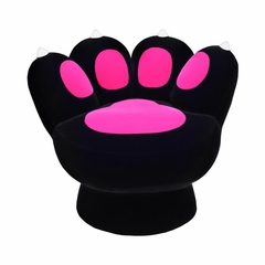 Paw Chair Black Hot Pink - Lumisource