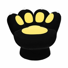 Paw Chair Black Yellow - Lumisource