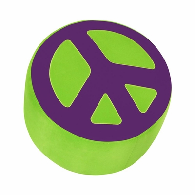 Peace Ottoman Green Purple - Lumisource