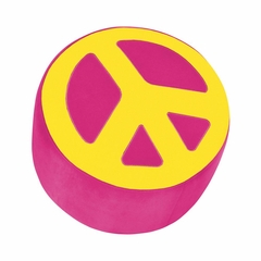 Peace Ottoman Hot Pink Yellow - Lumisource