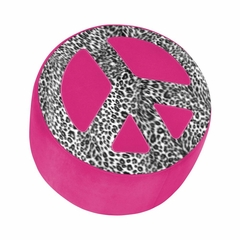 Peace Ottoman Hot Pink Zebra - Lumisource