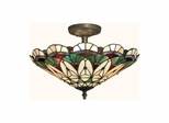 Peacock Tiffany Semi-Flush Mount - Dale Tiffany